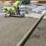 pervious concrete pour